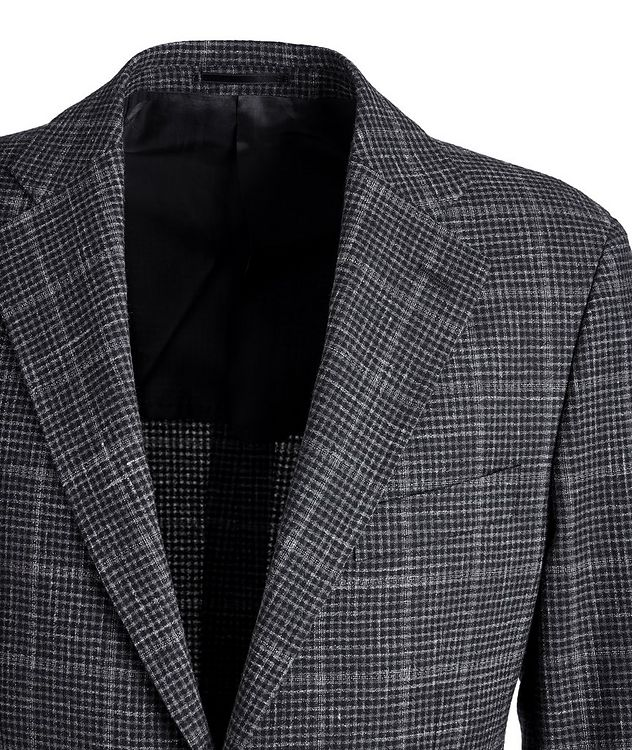 Checked Wool-Linen Sports Jacket picture 3