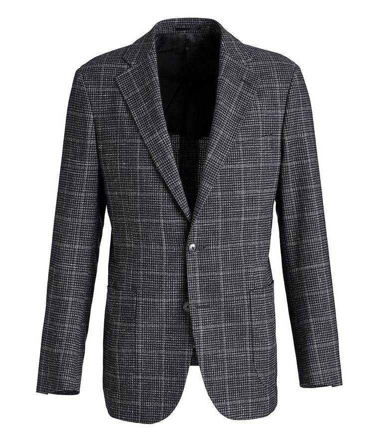 Checked Wool-Linen Sports Jacket image 0