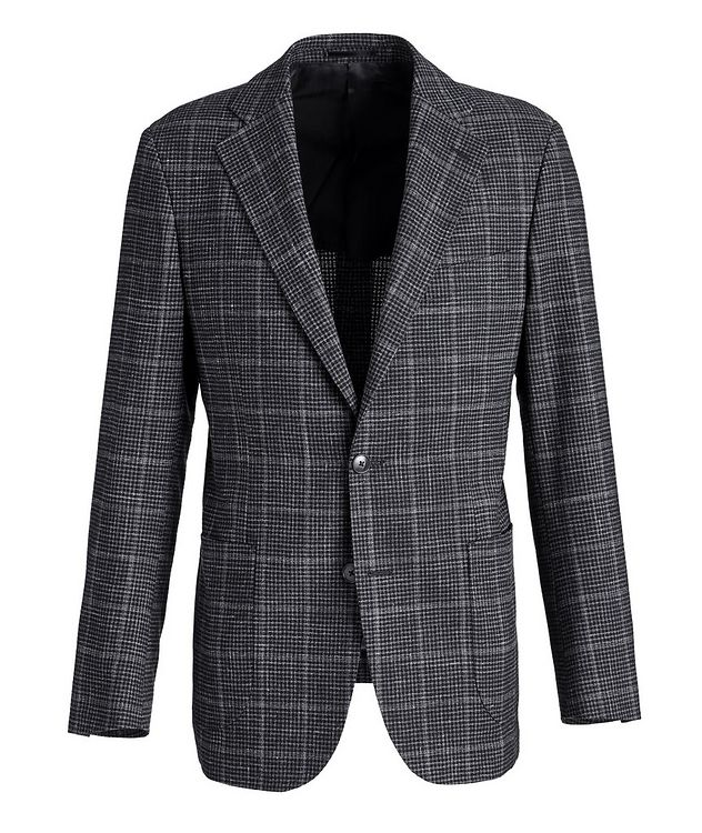 Checked Wool-Linen Sports Jacket picture 1