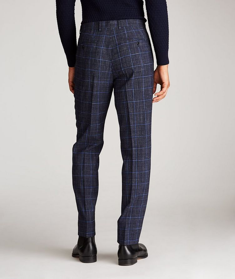 Windowpane Wool-Linen Dress Pants image 2