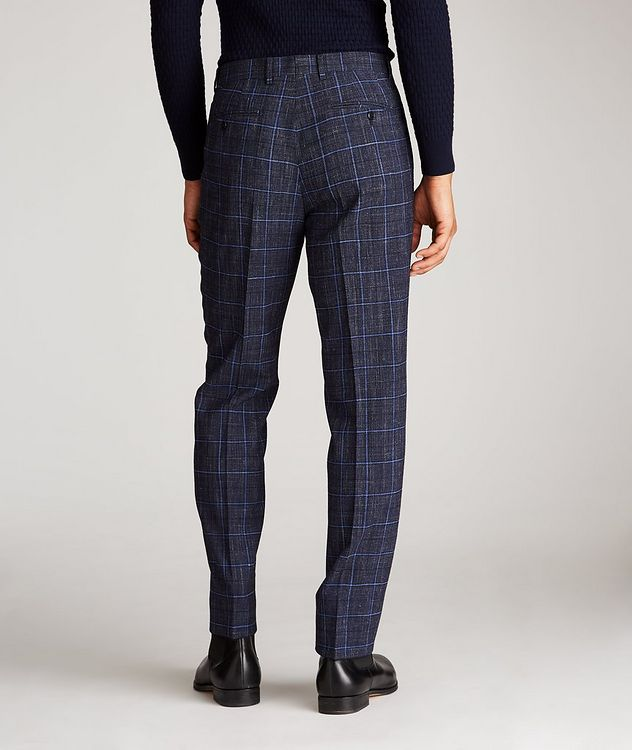 Windowpane Wool-Linen Dress Pants picture 3