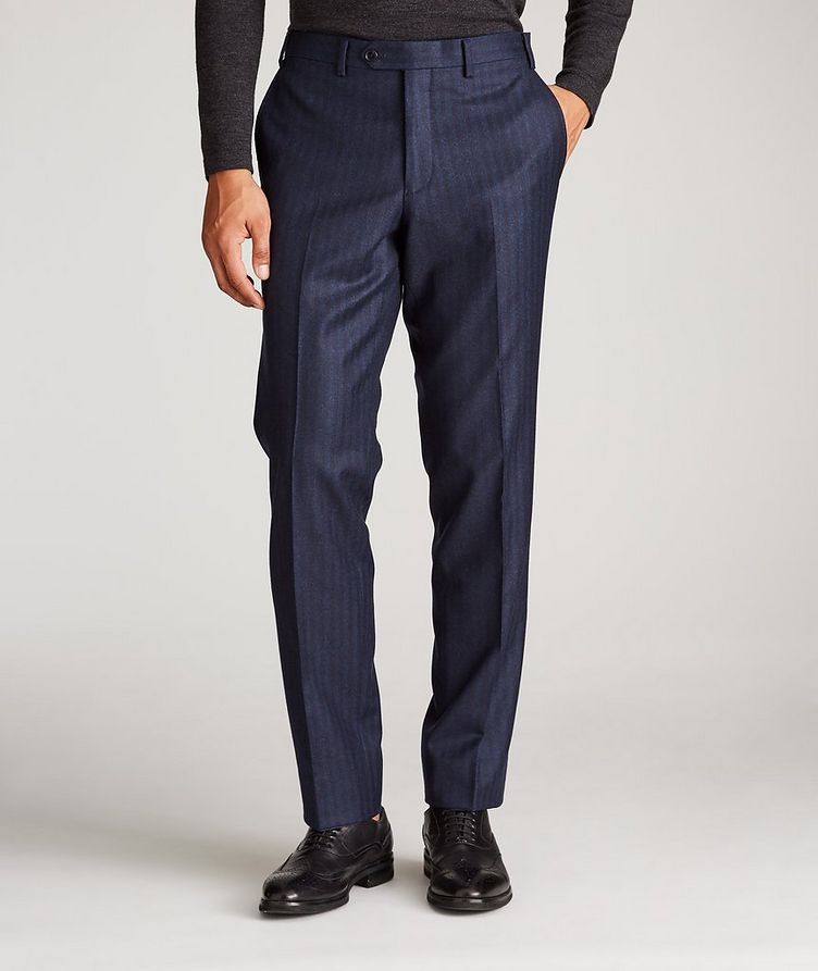 Striped Stretch-Wool Dress Pants image 1