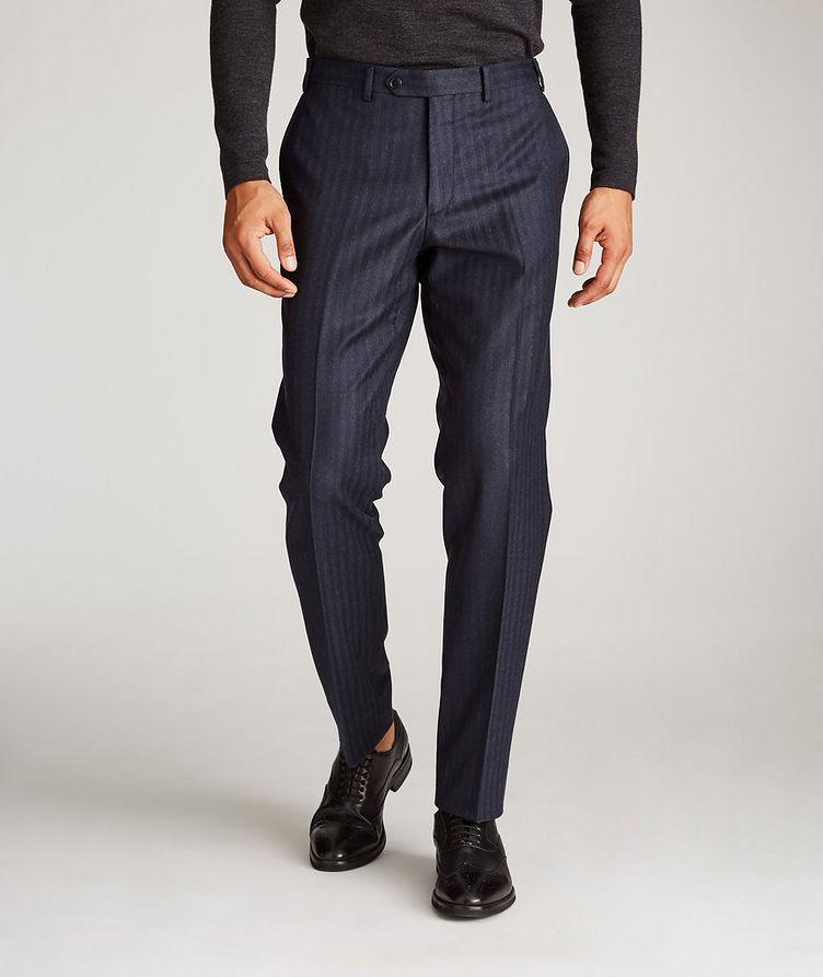 Striped Stretch-Wool Dress Pants image 1