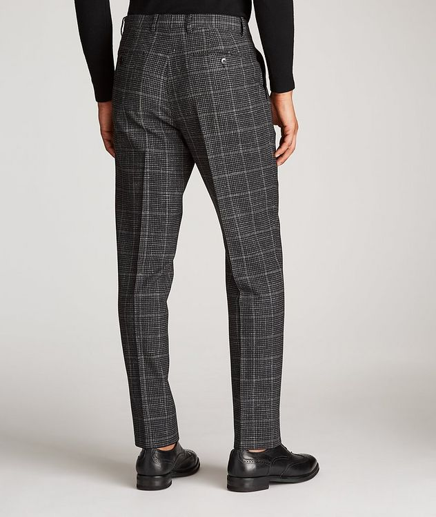 Checked Wool-Linen Dress Pants picture 3