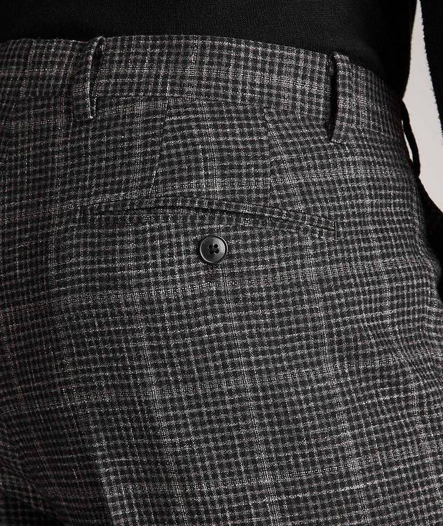 Checked Wool-Linen Dress Pants picture 4