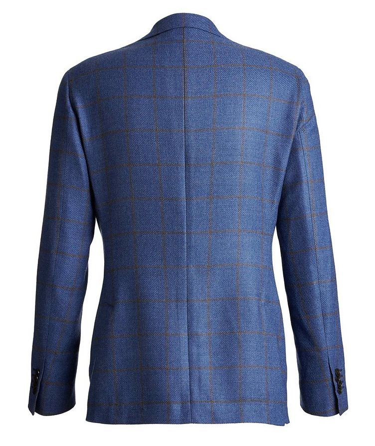 Windowpane Wool-Silk Sports Jacket image 1