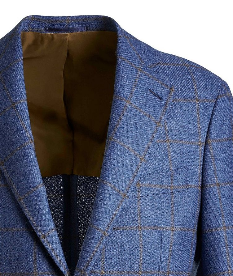 Windowpane Wool-Silk Sports Jacket image 2