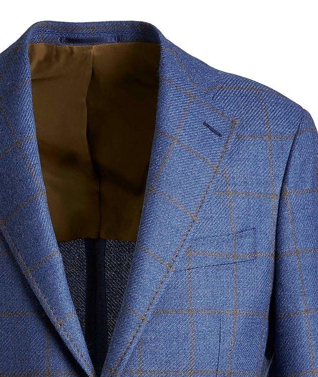 Windowpane Wool-Silk Sports Jacket picture 3