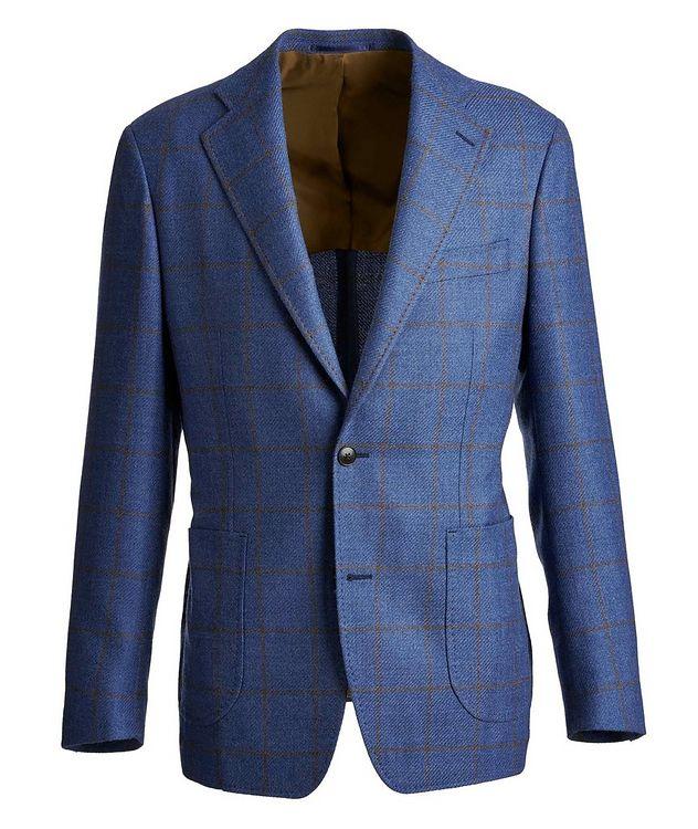 Windowpane Wool-Silk Sports Jacket picture 1