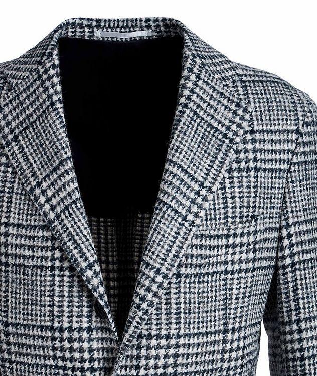 Veston en laine et laine d'alpaga à motif quadrillé picture 3