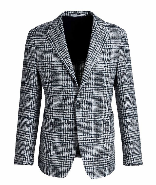 Veston en laine et laine d'alpaga à motif quadrillé picture 1