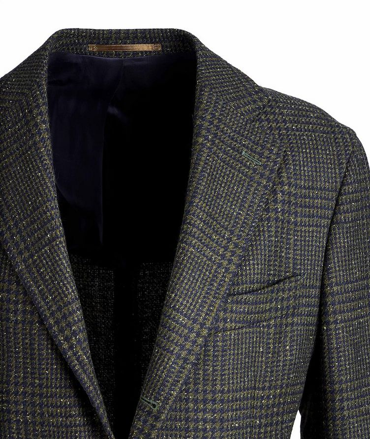 Checked Wool, Baby Alpaca, and Silk Sports Jacket image 2