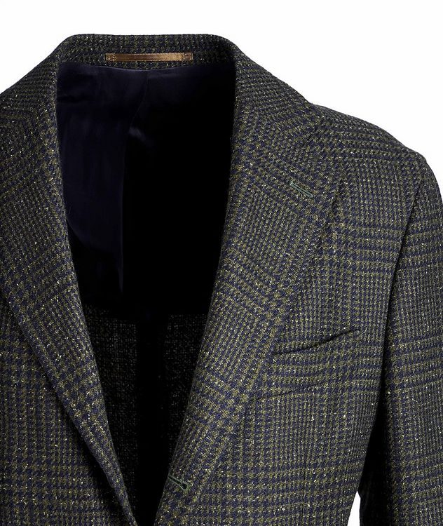 Checked Wool, Baby Alpaca, and Silk Sports Jacket picture 3