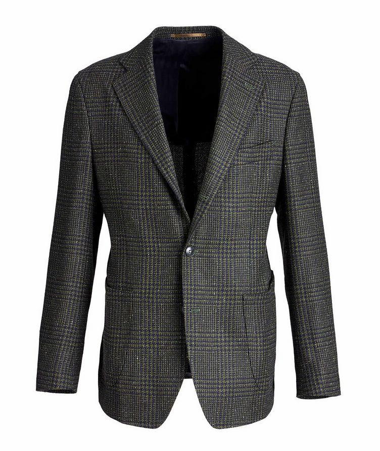 Checked Wool, Baby Alpaca, and Silk Sports Jacket image 0