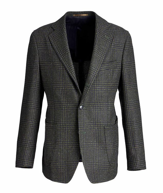 Checked Wool, Baby Alpaca, and Silk Sports Jacket picture 1