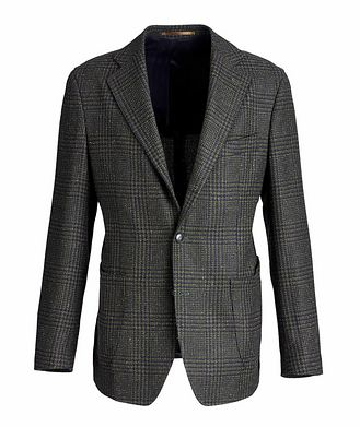 Atelier Munro Checked Wool, Baby Alpaca, and Silk Sports Jacket