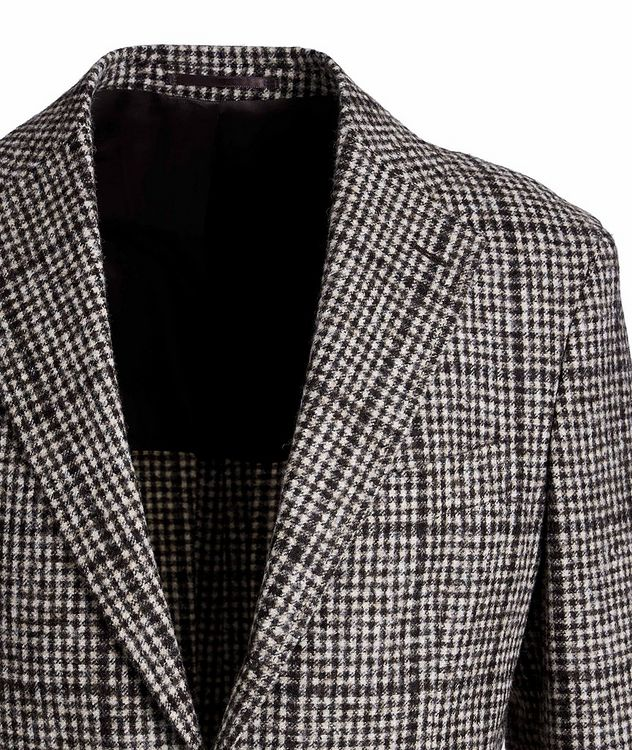 Checked Baby Alpaca-Wool Sports Jacket picture 3