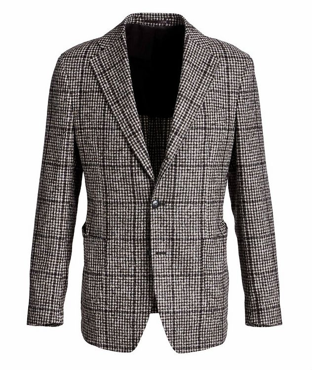 Checked Baby Alpaca-Wool Sports Jacket picture 1