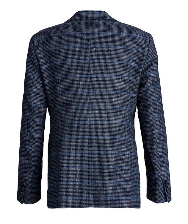 Windowpane Linen, Wool, and Cotton Sports Jacket picture 2