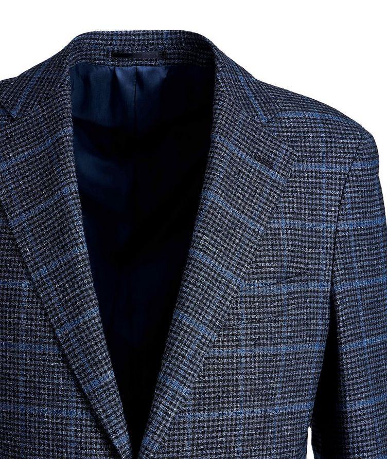 Windowpane Linen, Wool, and Cotton Sports Jacket image 2