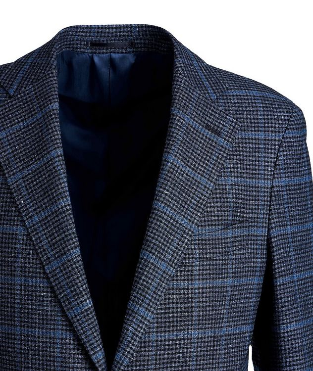Windowpane Linen, Wool, and Cotton Sports Jacket picture 3