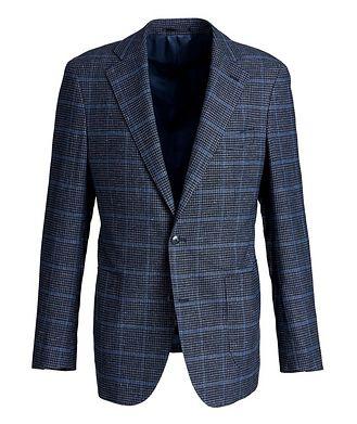 Atelier Munro Windowpane Linen, Wool, and Cotton Sports Jacket