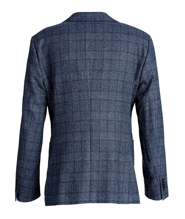 Windowpane-Checked Wool-Silk Sports Jacket picture 2