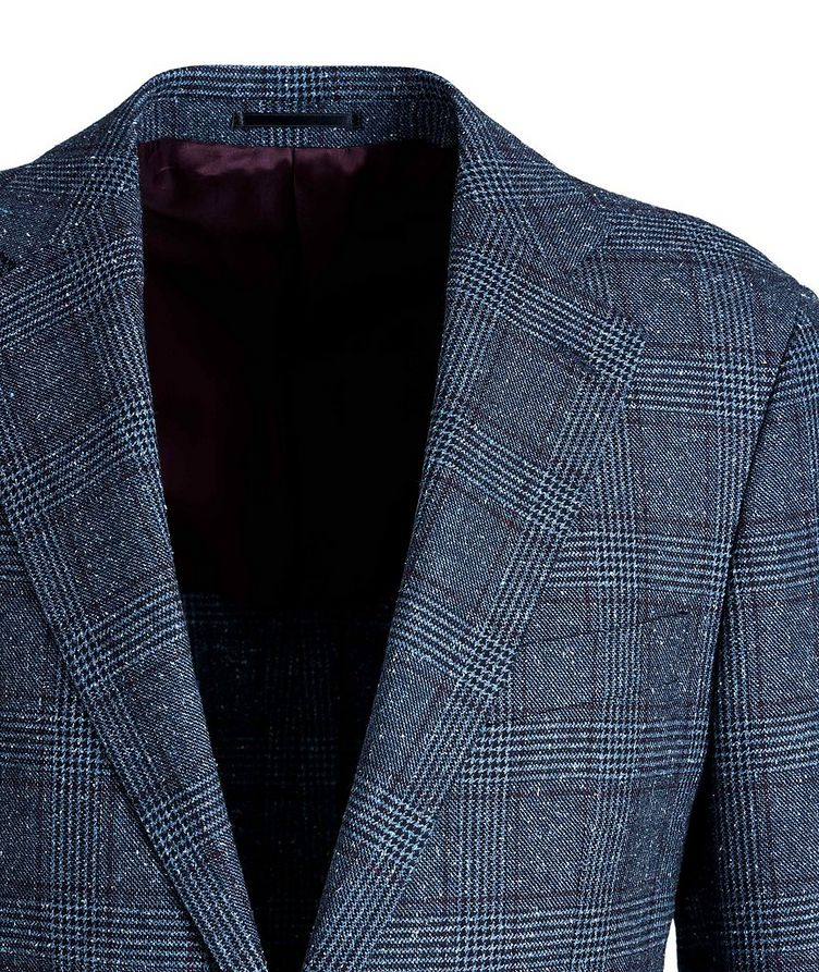 Windowpane-Checked Wool-Silk Sports Jacket image 2