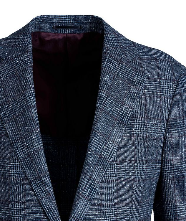 Windowpane-Checked Wool-Silk Sports Jacket picture 3