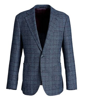Atelier Munro Windowpane-Checked Wool-Silk Sports Jacket