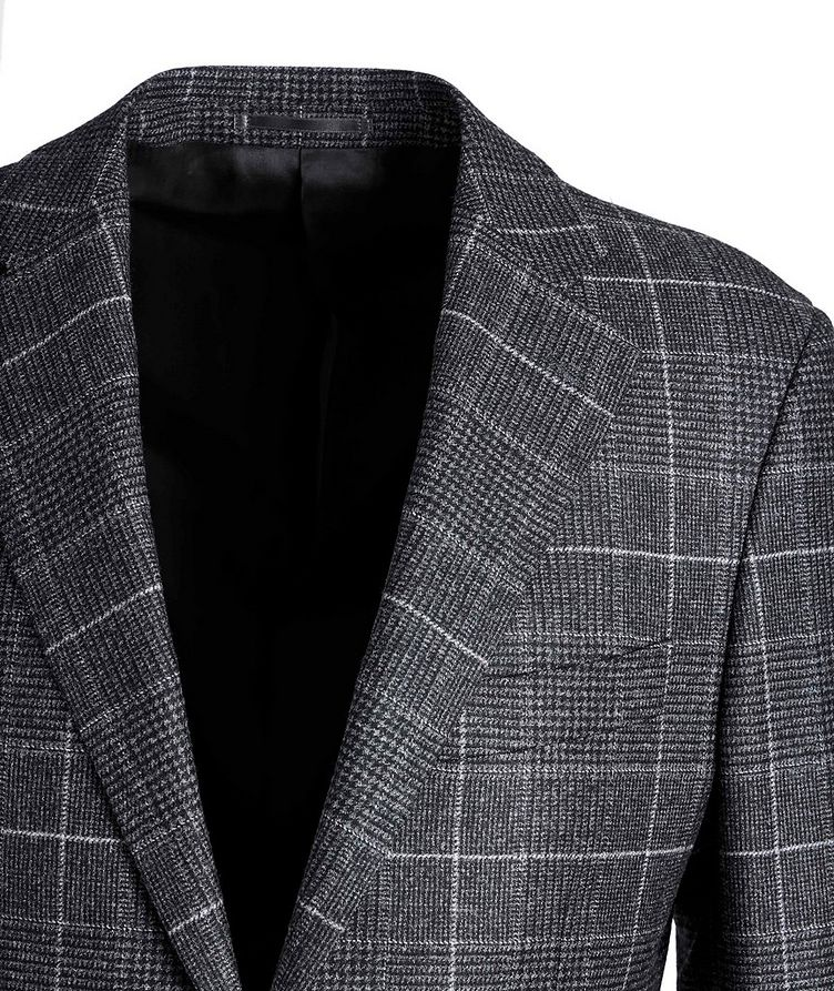 Windowpane-Checked Wool Sports Jacket image 2