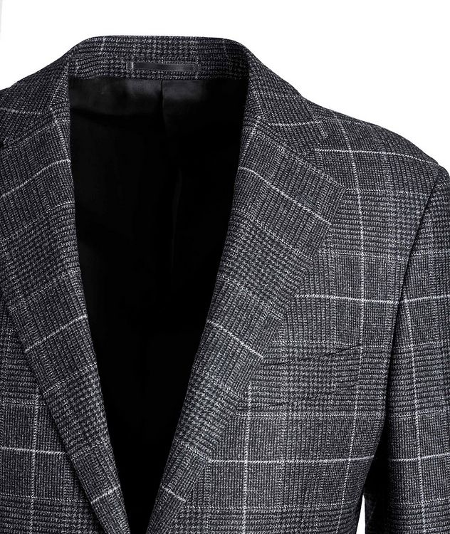 Windowpane-Checked Wool Sports Jacket picture 3