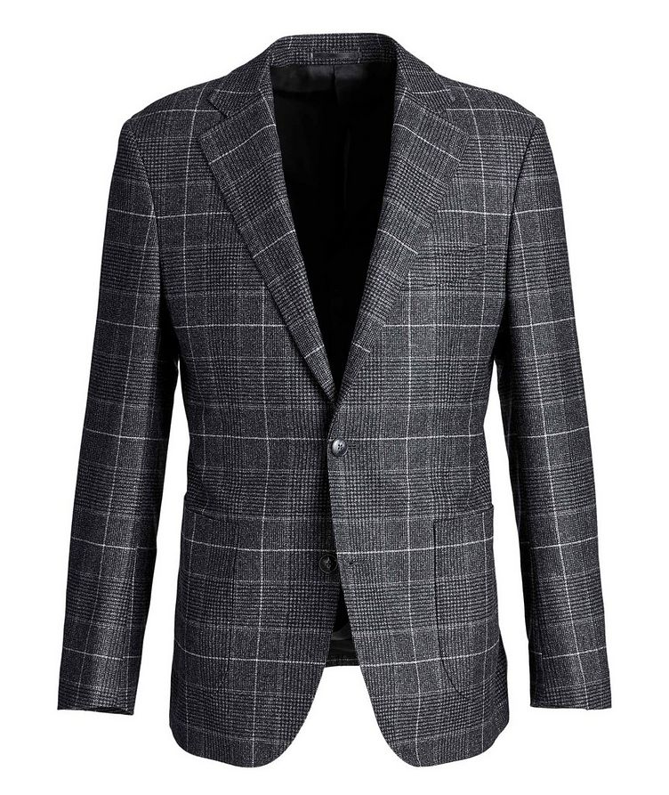 Windowpane-Checked Wool Sports Jacket image 0