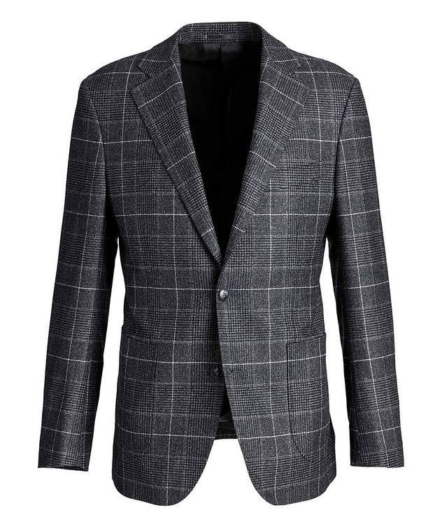 Windowpane-Checked Wool Sports Jacket picture 1