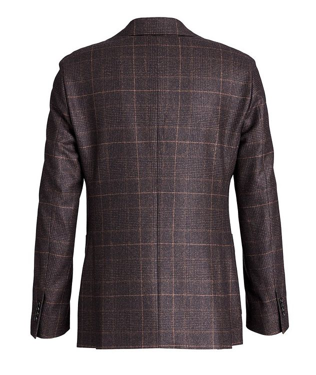 Windowpane-Checked Wool Sports Jacket picture 2