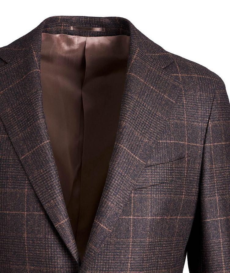 Windowpane-Checked Wool Sports Jacket image 2