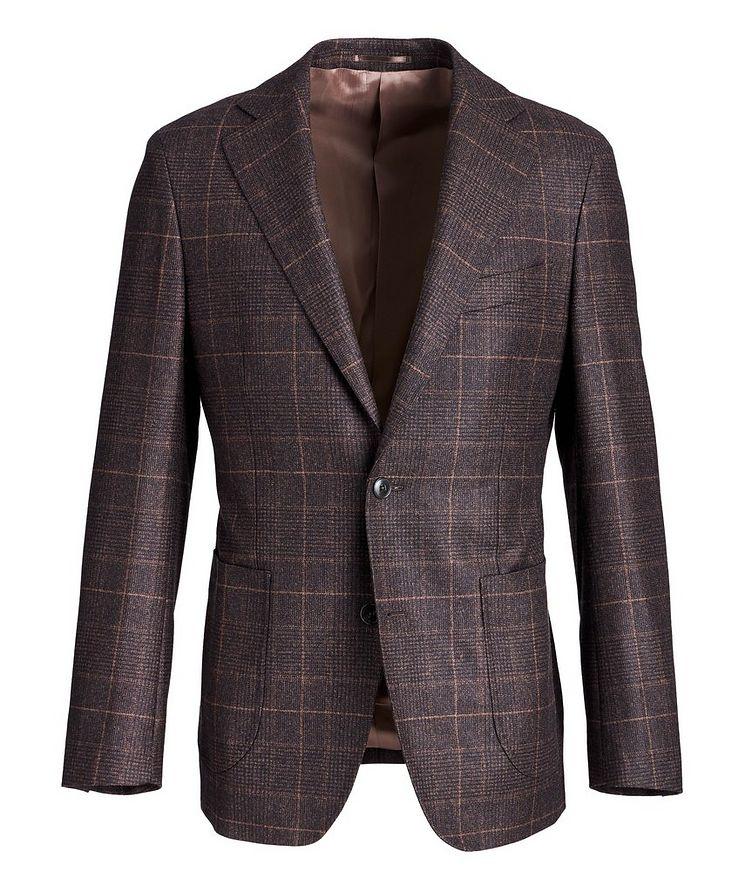 Windowpane-Checked Wool Sports Jacket image 0