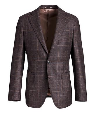 Atelier Munro Windowpane-Checked Wool Sports Jacket