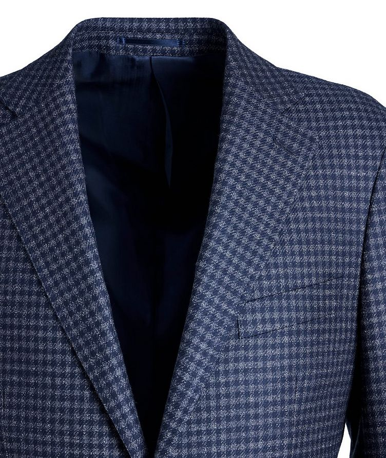 Gingham Wool Sports Jacket image 2