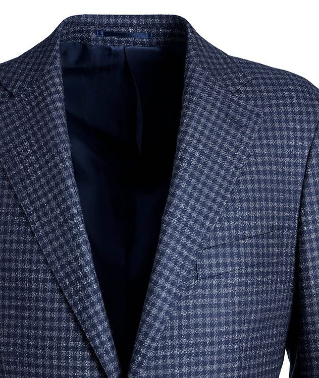 Gingham Wool Sports Jacket picture 3