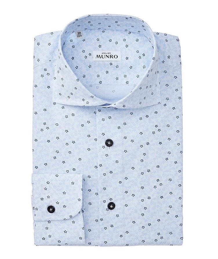 Slim Fit Floral-Printed Cotton Dress Shirt image 0