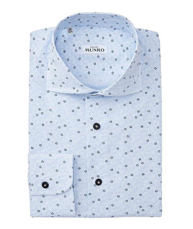 Slim Fit Floral-Printed Cotton Dress Shirt picture 1