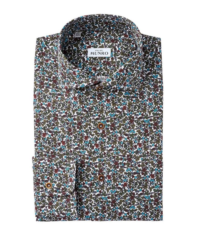 Slim Fit Floral-Printed Cotton Dress Shirt image 0