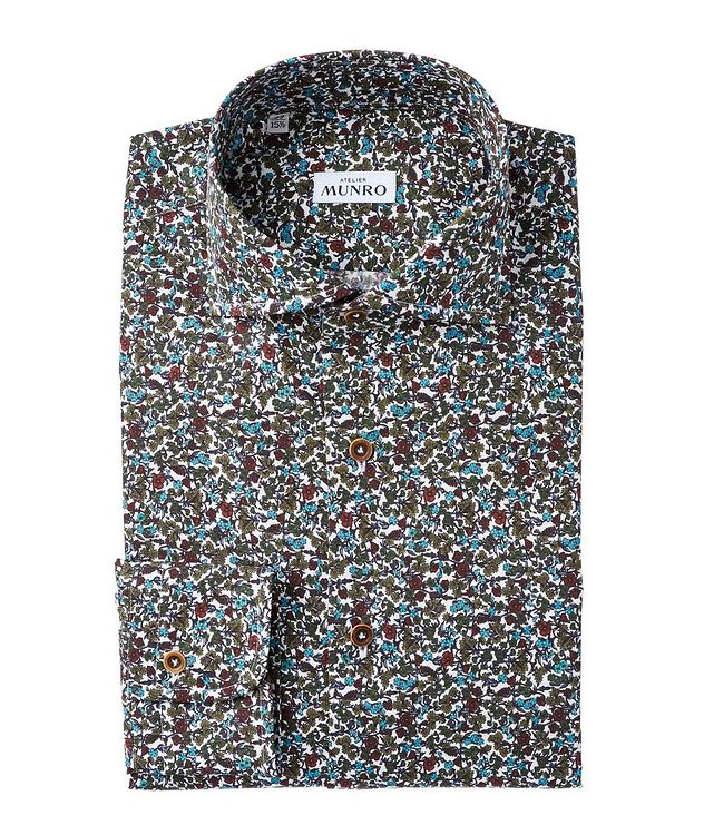 Slim Fit Floral-Printed Cotton Dress Shirt picture 1