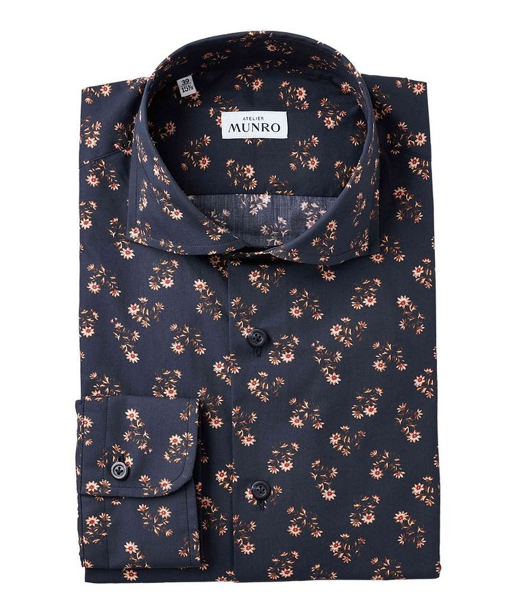Slim Fit Floral-Printed Dress Shirt image 0