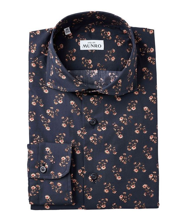 Slim Fit Floral-Printed Dress Shirt picture 1