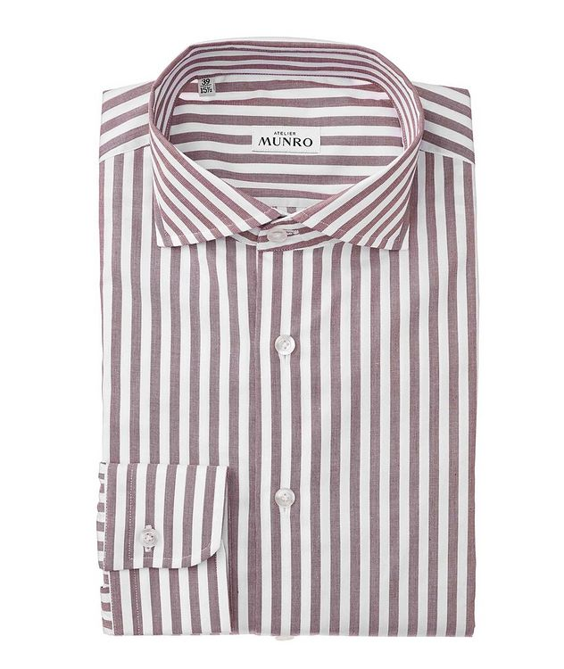 Slim Fit Striped Cotton Dress Shirt picture 1