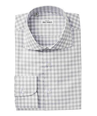 Atelier Munro Slim Fit Checkered-Print Dress Shirt