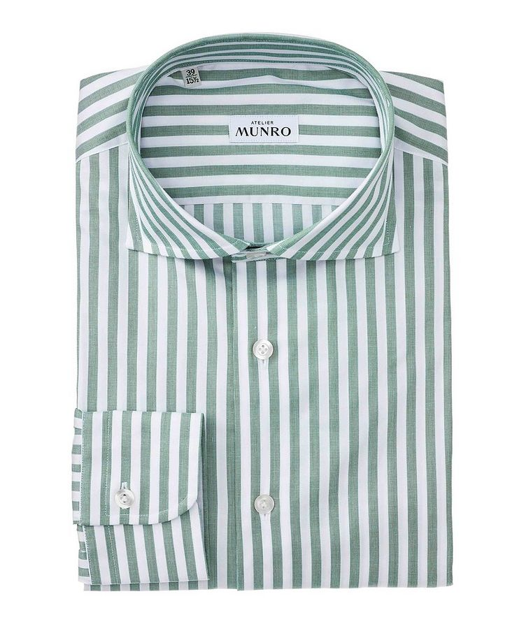 Slim Fit Striped Cotton Dress Shirt image 0