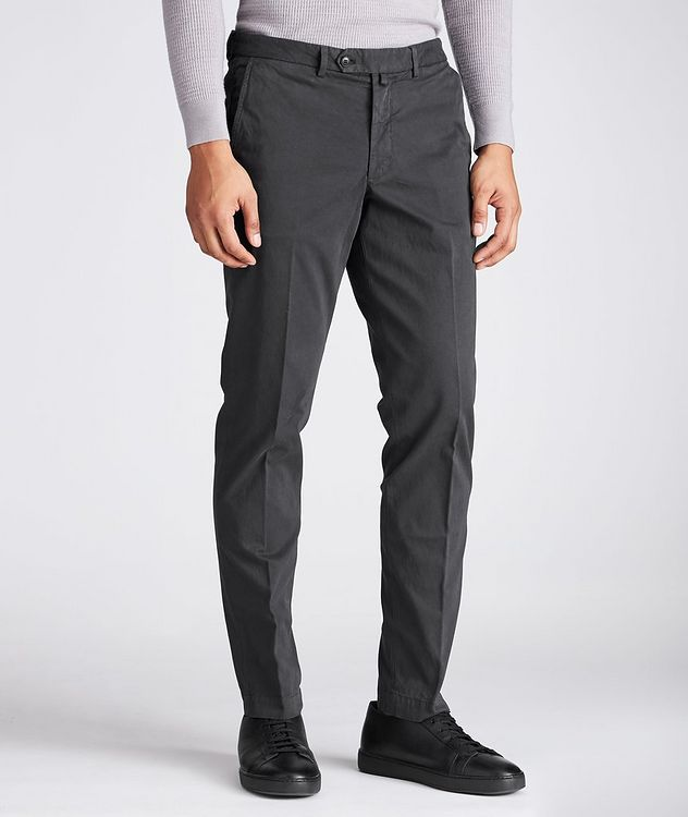Stretch-Cotton Twill Chinos picture 1